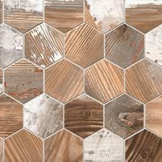 Hasley Manor Matte Wood Plank Porcelain Mosaic