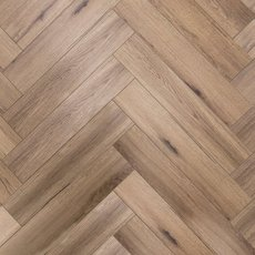 Tuscan Greige Herringbone Luxury Vinyl Plank with Foam Back