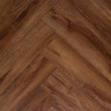 Auburn Oak Rigid Core Luxury Vinyl Herringbone - Foam Back