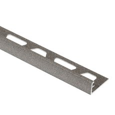 Schluter Jolly 3/8in. Aluminum Edge Trim in Satin Gray
