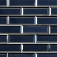 Astral Blue 2 x 6 in. Brick Glass Mosaic