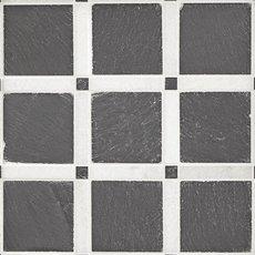 Black and White Forum Honed Slate Mosaic