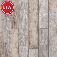New! Arden Manor White Wood Plank Porcelain Tile