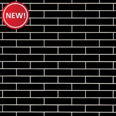 New! Bright Black Polished Ceramic Tile