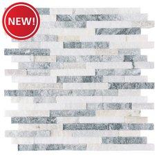 New! Mountain Gray Splitface Marble Mosaic