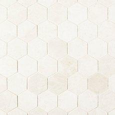 Santorini White 2 in. Hexagon Polished Marble Mosaic