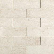 Santorini White 2 x 6 in. Brick Marble Mosaic