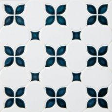 Iris Anchors Polished Porcelain Mosaic
