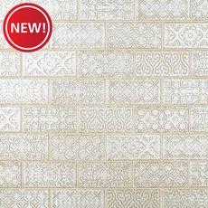 New! Patina White Polished Porcelain Tile