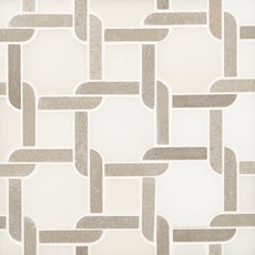 Taupe Lattice Polished Marble Mosaic