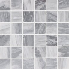 Bardiglio 2 in. Square Polished Marble Mosaic
