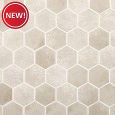 New! Gray Concrete Matte Hexagon Porcelain Mosaic