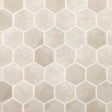 Gray Concrete Matte Hexagon Porcelain Mosaic
