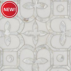 New! Versailles Thassos and Mother of Pearl Mosaic