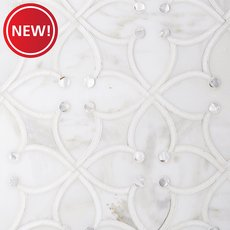New! Jasmine Calacatta Mother of Pearl Thassos Mosaic