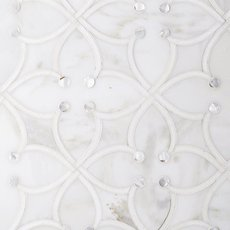 Jasmine Calacatta Mother of Pearl Thassos Mosaic