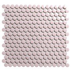 Bubblegum Polished Porcelain Penny Mosaic