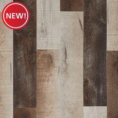 New! Barnwood Medley Rigid Core Luxury Vinyl Plank - Cork Back