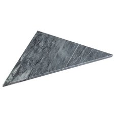 Gray Triangle 18 x 36 in. Marble Shower Bench