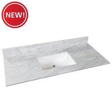 New! Bianco Carrara Marble 49 in. Vanity Top