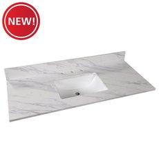 New! Volakas Engineered Marble 49 in. Vanity Top