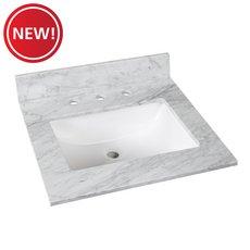 New! Bianco Carrara Marble 25 in. Vanity Top