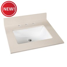New! Barbados Sand Engineered Marble 25 in. Vanity Top