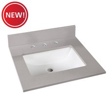 New! Bromely Gray Marble 25 in. Vanity Top