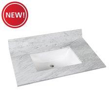 New! Bianco Carrara Marble 31 in. Vanity Top