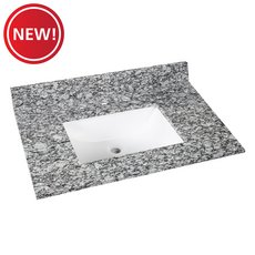 New! Kendall Gray Granite 31 in. Vanity Top