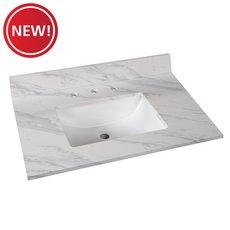 New! Volakas Engineered Marble 31 in. Vanity Top