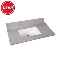New! Bromely Gray Marble 37 in. Vanity Top