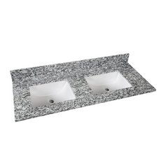 Kendall Gray Granite 61 in. Vanity Top