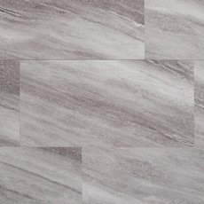 Silver Fantasy Gray Rigid Core Luxury Vinyl Tile - Foam Back