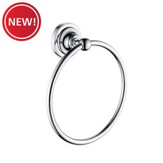 New! Traditional Chrome Towel Ring