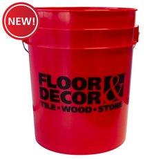New! Floor and Decor Logo Red Bucket