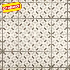 Clearance! Lattice Gray Matte Porcelain Tile