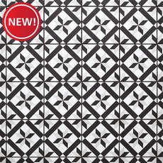 New! Craft Black and White Matte Porcelain Tile