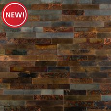 New! Distressed Copper Peel and Stick Metal Wall Panel