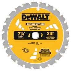 DeWalt 7 1/4in. 24T Thin Kerf Framing Saw Blade