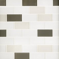 Sandhill Brick II Glass Mosaic