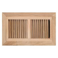 Unfinished White Oak Flush Mount Register