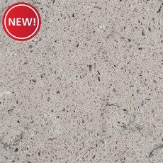 New! Ready to Install Fossil Gray Quartz Slab Includes Backsplash