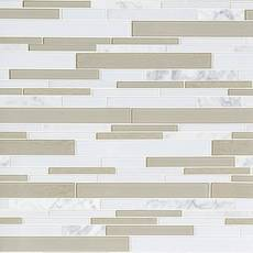 Paros Summer Stone II Glass Linear Mosaic