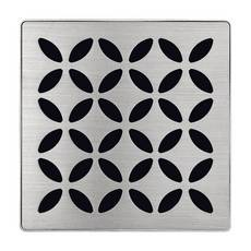 Schluter Kerdi-Drain 4in. Grate Brushed Stainless Steel