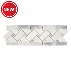 New! Sahara Carrara Basket Weave Mosaic Border
