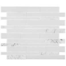 Cosmo Glass Linear Peel and Stick Mosaic