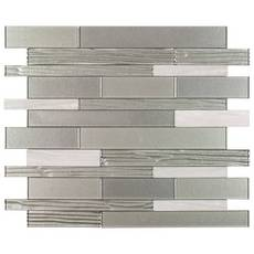 Metro Linear Glass Peel and Stick Mosaic