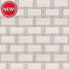 New! Tribeca Dolomite Polished Marble Mosaic