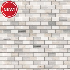 New! Skyline Blend Mini Brick Polished Marble Mosaic